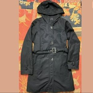 Jones New York Rain Jacket Lined Trench Coat Hood